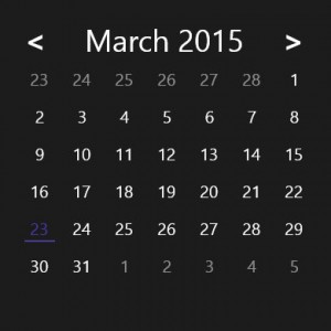 CalendarDatePicker Dark Theme